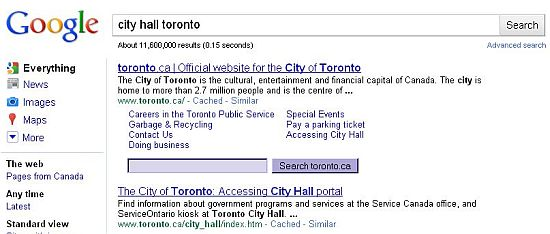 Google Screen Shot Toronto City Hall 1