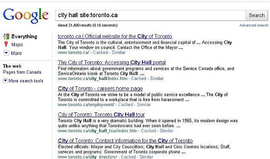 Google Screen Shot Toronto City Hall 2