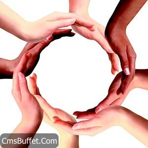 Multi Racial Hands Make Circle