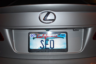 SEO License Plate
