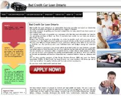 Bad credit car loan Ontario