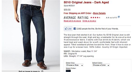 Levis Social Example